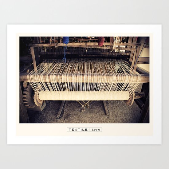 Textile Series - Loom Art Print