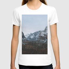 Snow in Yosemite Valley T-shirt