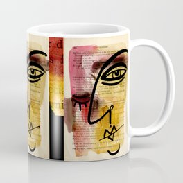 """Funky Face Abstract, """"I See 38"""" by Kathy morton Stanion Coffee Mug"""