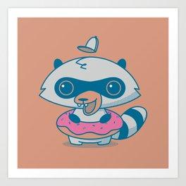 Trash Panda in a Donut Art Print