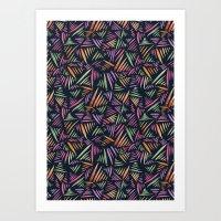 India Flecks Art Print