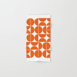 Mid Century Modern Geometric 04 Orange Hand & Bath Towel