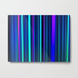 Deep Ocean LED Sculpture Light Painting Metal Print