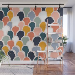 New world - Abstract geometric colorful pattern Wall Mural