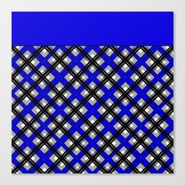 Combo black blue plaid Canvas Print