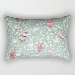 Paper Edition Color Stars Balloon Leaves Hearts Space Birds Grass Rectangular Pillow