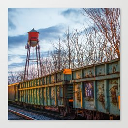 Rogers Arkansas Water Tower - Square Format Canvas Print