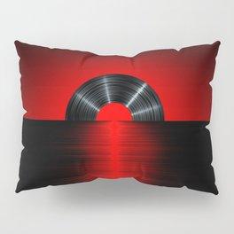 Vinyl sunset red Pillow Sham
