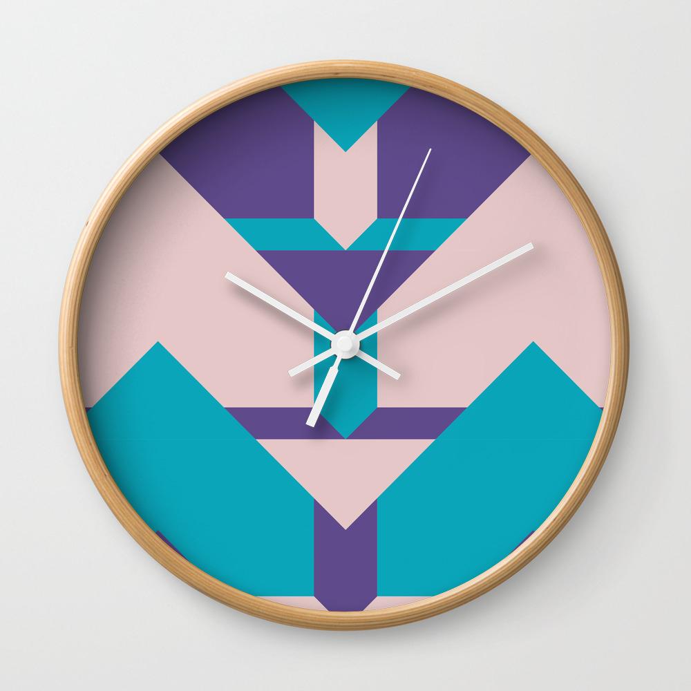 Glow Way #society6 #glow #pattern Wall Clock by Designdn CLK8713512