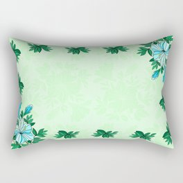 Frame from flowers with background Rectangular Pillow