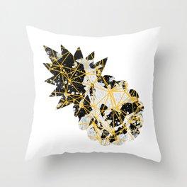 Geometric Emoji Pineapple with Splash Throw Pillow
