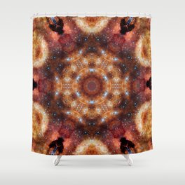 Space Mandala No30 Shower Curtain