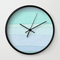 polkadot Wall Clocks featuring Polkadot Madness by Anita Ivancenko