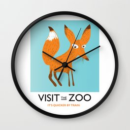 Visit the Zoo Fox edition Wall Clock
