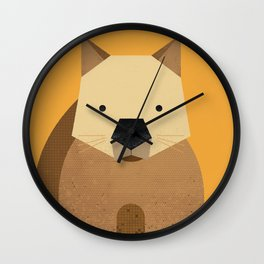 Whimsy Wombat Wall Clock