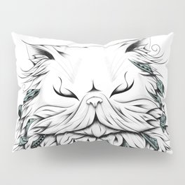 Poetic Persian Cat Pillow Sham