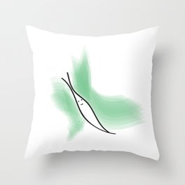 happy little butterfly Throw Pillow
