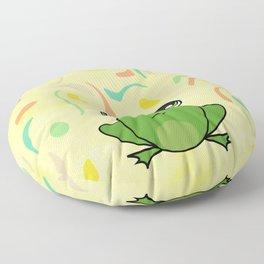 Cute frog looking up Floor Pillow