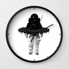 Through the Black Hole Wall Clock