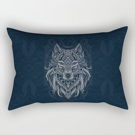 Wolf of North Rectangular Pillow