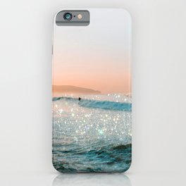 Glitter Sparkles Beach Surfer iPhone Case