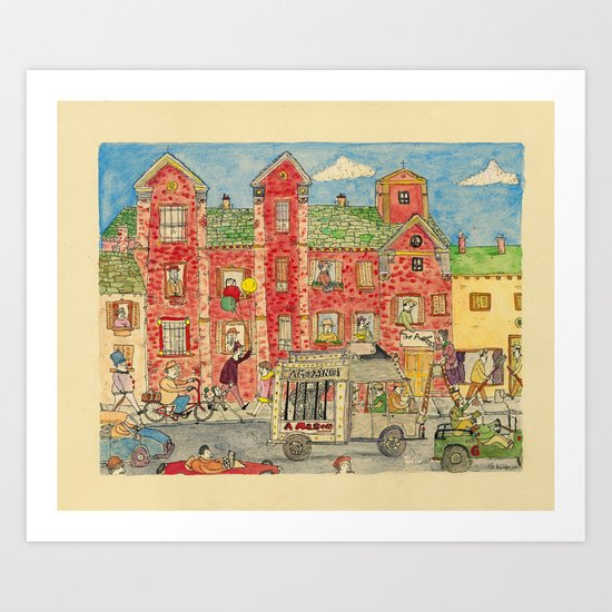 The Amazing Amazon Art Print