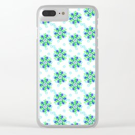 Snowflake a Day *Fairy Greens & Blues Clear iPhone Case
