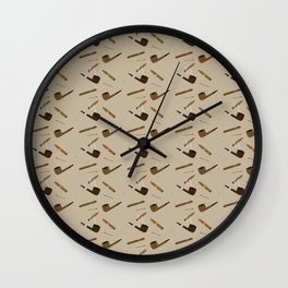 Pipe and Cigar pattern Wall Clock