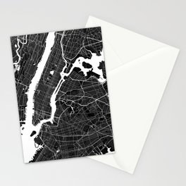 New York - Minimalist City Map Stationery Cards
