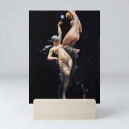 "Luis Ricardo Falero ""Reaching for the Stars (also known as Moonlit Beauties)"" Mini Art Print"
