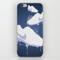 nike iPhone & iPod Skins featuring Nike Drips by Patrick Cazer