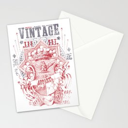 Vintage Apparel Shield Stationery Cards