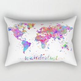 Wanderlust World Map Rectangular Pillow
