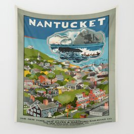 Vintage poster - Nantucket Wall Tapestry