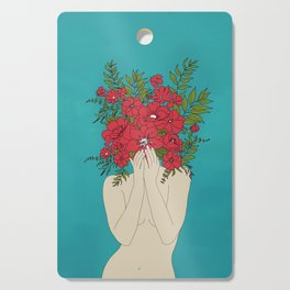 Blooming Red Cutting Board