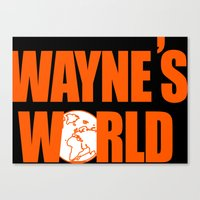 snl Canvas Prints featuring Waynes World logo SNL saturday night live 90s Funny Geek Nerd by jekonu