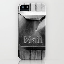 Mail - Black and White iPhone Case