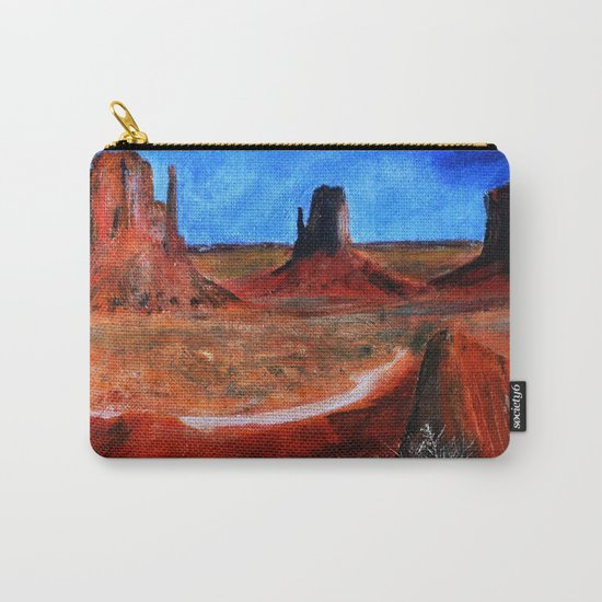Utah Landscape Acrylic Painting Carry-All Pouch
