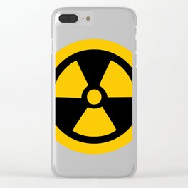 Yellow Radioactive Clear iPhone Case