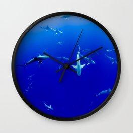Party Sharks Wall Clock