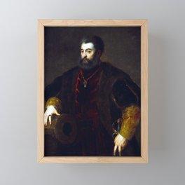 Titian Alfonso d'Este, Duke of Ferrara Framed Mini Art Print