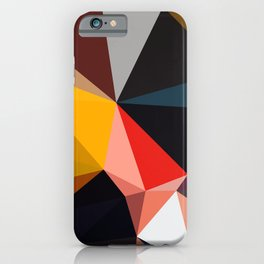 Abstract Geometric Art Colorful Design 502 iPhone Case