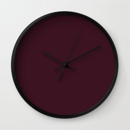 Dark Chocolate (Hershey's) - solid color Wall Clock