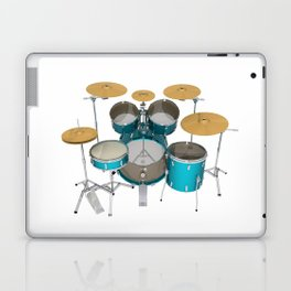 Green Drum Kit Laptop & iPad Skin