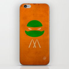 TMNT Mikey poster iPhone & iPod Skin