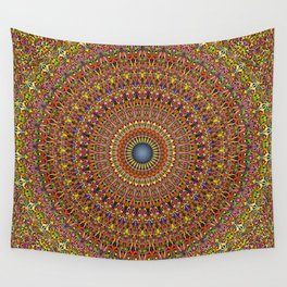 Magic Ornate Garden Mandala Wall Tapestry