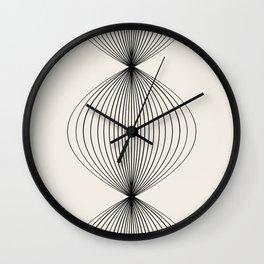 Geometric Orb Row - Black Wall Clock