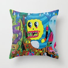 The Treasure Hunters Throw Pillow