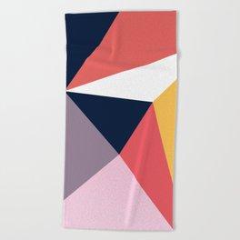 Modern Poetic Geometry Beach Towel