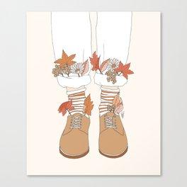 Autumn Walks Canvas Print